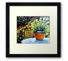 De mon jardin Framed Print