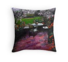 Nuit dans le jardin Throw Pillow