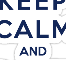 Keep Calm And Don't Blink (Color Version) Sticker