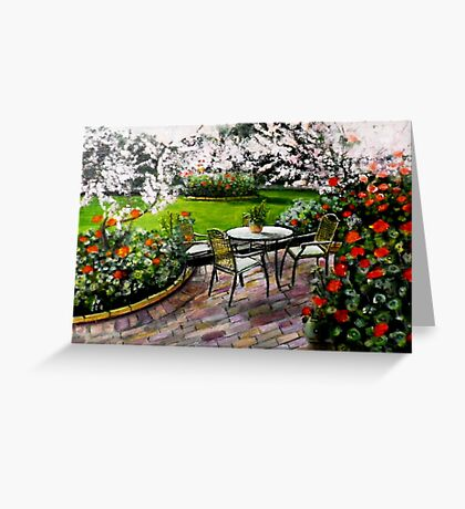 Midi dans le jardin Greeting Card