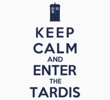 Keep Calm And Enter The Tardis (Color Version) by Phaedrart