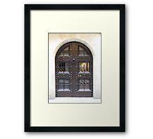 Girona door Framed Print