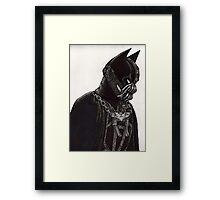 Hero and Villain Mashup Framed Print