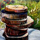 "Stacked Gravures sur bois 1 by Belinda ""BillyLee"" NYE (Printmaker)"