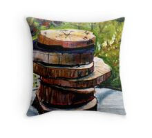 Stacked Gravures sur bois 1 Throw Pillow