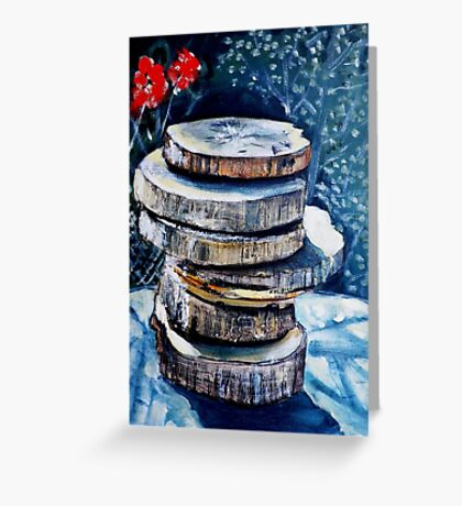 Stacked Gravures sur bois 2 Greeting Card