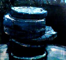 "Stacked Gravures sur bois 3 by Belinda ""BillyLee"" NYE (Printmaker)"