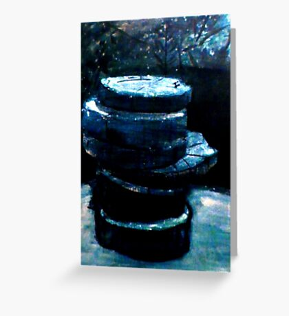Stacked Gravures sur bois 3 Greeting Card