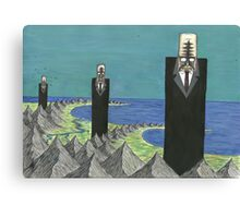 The Three Suited Giants Canvas Print