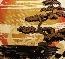 A relaxing Japanese garden Sticker