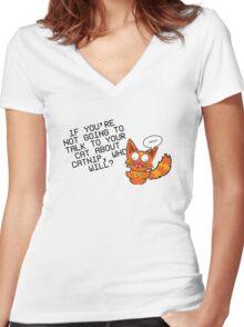 catnip Women's Fitted V-Neck T-Shirt