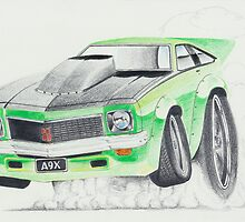 Holden Torana A9X-Burnout by Glens Graphix by GlensGraphix