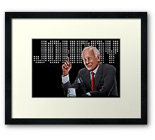 Johnny Carson - Comic Timing Framed Print