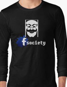 fsociety facebook mr robot Long Sleeve T-Shirt