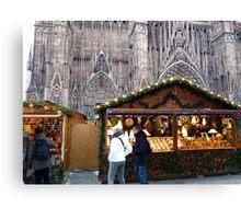 Christmas at Strasbourg (France) Canvas Print