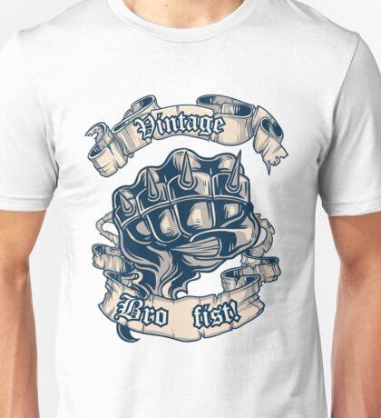 Vintage Bro Fist Unisex T-Shirt