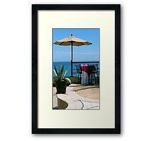 Seaside Table Framed Print
