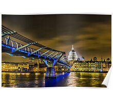 St pauls and the Millennium bridge Poster