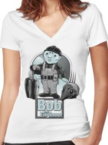 Bob the Engineer Women's Fitted V-Neck T-Shirt