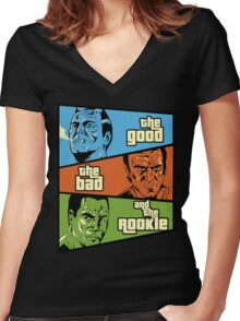 The Good, the Bad and the Rookie Women's Fitted V-Neck T-Shirt