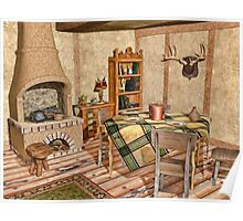 Humble Rustic Home - Country Cottage Interior Poster