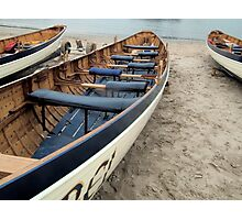 Lyme Gigs At Lyme Harbour, Dorset UK Photographic Print