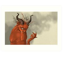 Red Troll Art Print