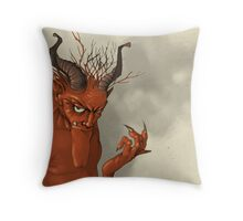 Red Troll Throw Pillow
