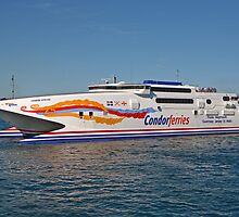 St Peters Port Guernsey Condor ferry by Keith Larby