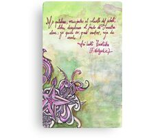 Illustrated quote (Spanish), Nietzsche Canvas Print
