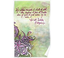 Illustrated quote (Spanish), Nietzsche Poster