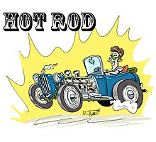 Collour hot-rod on wheels! (1) Photographic Print