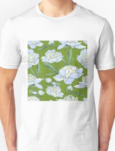 floral background with peonies  Unisex T-Shirt