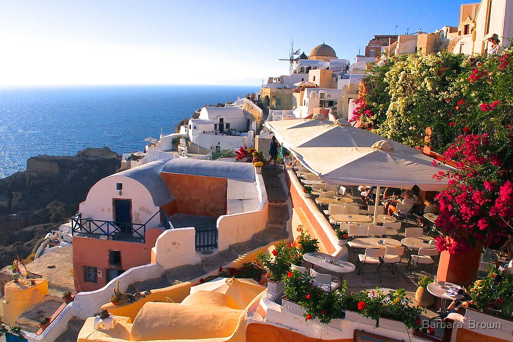 A View of Oia by Barbara  Brown