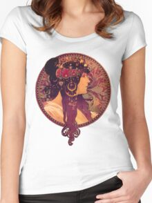 Mucha - Donna Orechini Women's Fitted Scoop T-Shirt