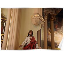 Sacred Heart, Architectural Detail - St. Mary's Historical Church Poster