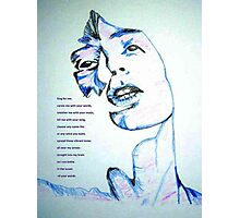 Sing for me Photographic Print