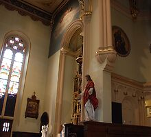 Altar of St, John the Baptist & Sacred Heart - St. Mary's Historical Church by John Schneider