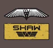 Dr. Elizabeth M. Shaw - Prometheus (Wings and Patch) Weyland Logo (SIDE) by James Ferguson - Darkinc1