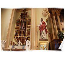 Altar of St. John the Baptist, Sacred Heart - St. Mary's Historical Church Poster