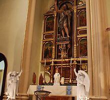 Altar of St. John the Baptist - St. Mary's Historical Church by John Schneider
