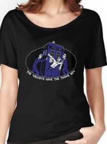 The Walkers have the Phonebox Women's Relaxed Fit T-Shirt
