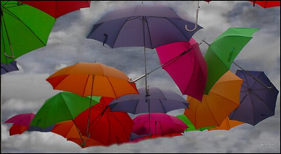 Cloudy with a Chance of Umbrellas by Wayne King
