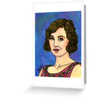 Lady Edith Greeting Card