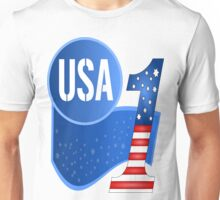USA Flag Design with No.1 in the World  Unisex T-Shirt