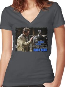 My Baby Blue Women's Fitted V-Neck T-Shirt
