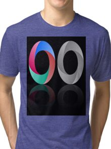 Abstract Infinite Loop / Ring Sign Tri-blend T-Shirt