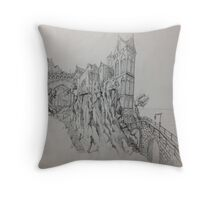 The Rock Towers Throw Pillow