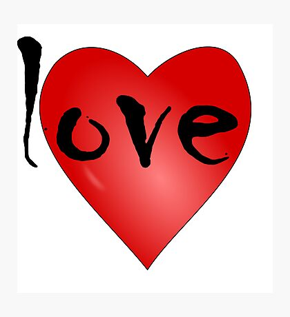 Love Symbol Red Heart with Letters 'LOVE' Photographic Print