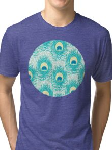 Peacock feathers pattern Tri-blend T-Shirt